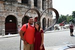 My husband and I on tour with students in Assisis, Italy