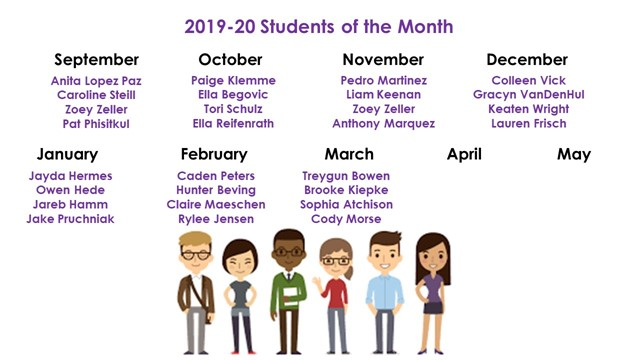 Students of the Month - March
